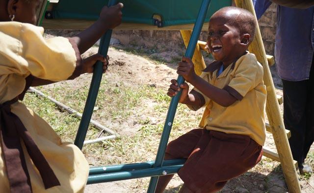 happy gambian children